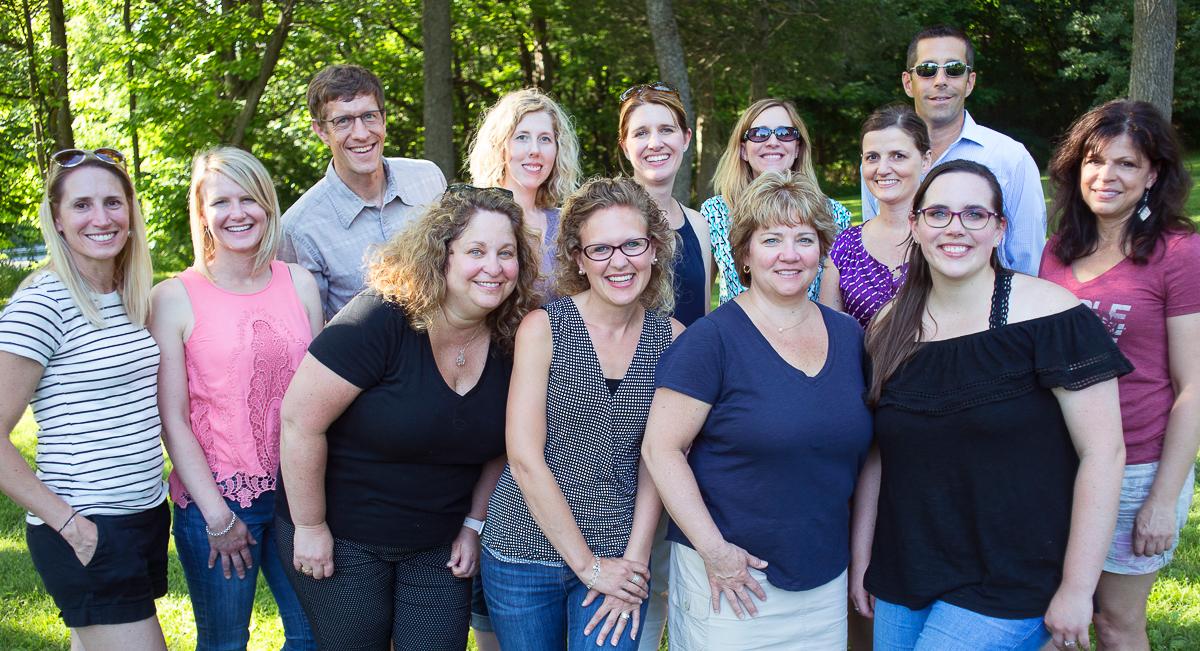 Group photo at the company picnic