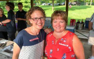 Dana and Mary at the company picnic