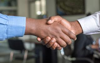Close up of handshake